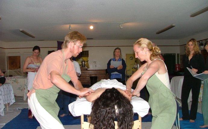 Students learning Ayurvedic Massage - Yelp