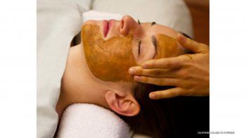 face mask, massage, panchakarma facial massage